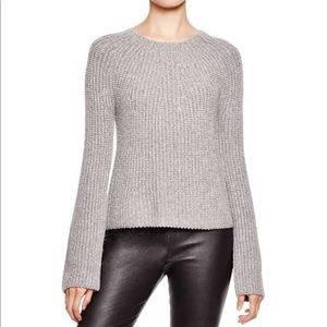 Joie • Grey Nekane Wool Blend Knit Sweater L